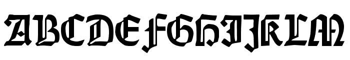DS Weiss-Gotisch Alt Font UPPERCASE