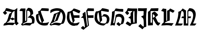 DS Weiss-Gotisch Font UPPERCASE