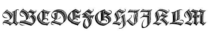 DS Zierschrift Font UPPERCASE