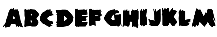 DS Zombie Cyr Font LOWERCASE