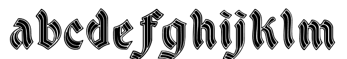 DSCathedralAlt Font LOWERCASE