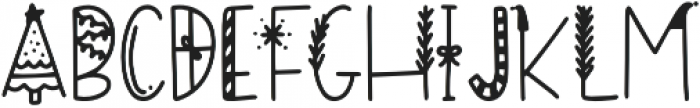 DTC Happy Holidays Regular otf (400) Font LOWERCASE
