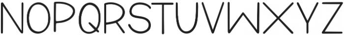 DTC Raspberry Sans Regular otf (400) Font UPPERCASE