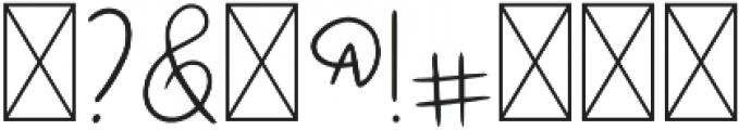 DTC Snowflake Regular otf (400) Font OTHER CHARS