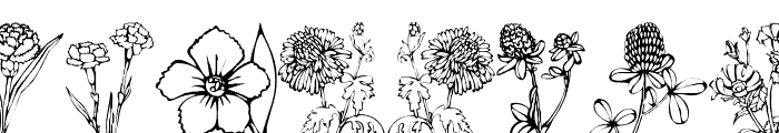 DT Flowers 1 Font UPPERCASE