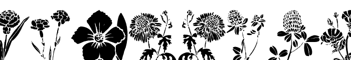 DT Flowers 1 Font LOWERCASE