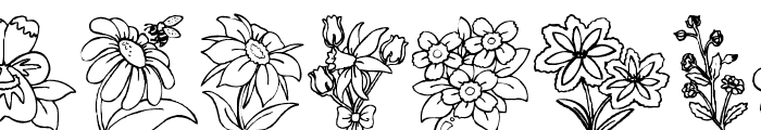 DT Flowers 2 Font UPPERCASE