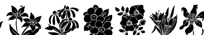 DT Flowers 2 Font LOWERCASE