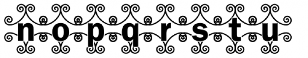 DTC Franklin Gothic M46 Font LOWERCASE