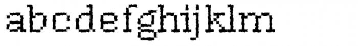 DTC Rough M17 Font LOWERCASE