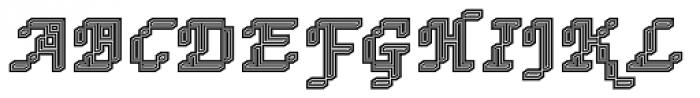 DTC Rough M74 Font UPPERCASE