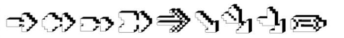 DTC Rough X15 Font LOWERCASE