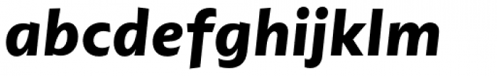 dT Ampla Bold Italic Font LOWERCASE