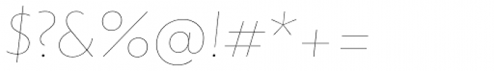 dT Jakob Hairline Italic Font OTHER CHARS