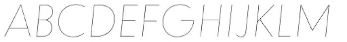 dT Jakob Hairline Italic Font UPPERCASE