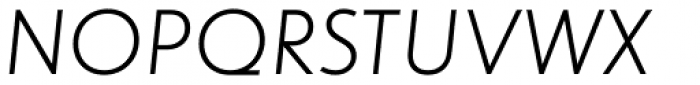 dT Jakob Light Italic Font UPPERCASE