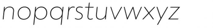 dT Jakob Thin Italic Font LOWERCASE