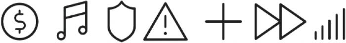 Duepuntozero Pro Icon Light otf (300) Font OTHER CHARS