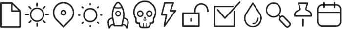 Duepuntozero Pro Icon Light otf (300) Font UPPERCASE