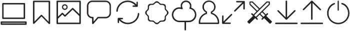 Duepuntozero Pro Icon Light otf (300) Font LOWERCASE
