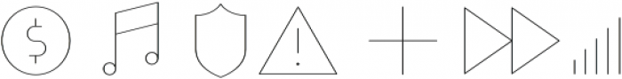 Duepuntozero Pro Icon Thin otf (100) Font OTHER CHARS