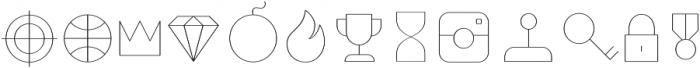 Duepuntozero Pro Icon Thin otf (100) Font UPPERCASE