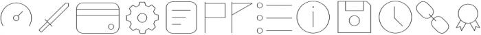 Duepuntozero Pro Icon Thin otf (100) Font LOWERCASE