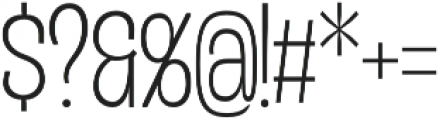 Duera Condensed otf (100) Font OTHER CHARS