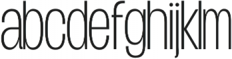 Duera Condensed otf (100) Font LOWERCASE