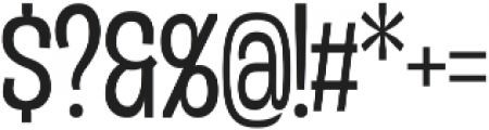 Duera Condensed ttf (300) Font OTHER CHARS
