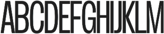Duera Condensed ttf (300) Font UPPERCASE