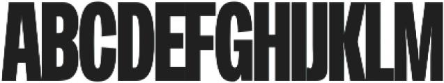 Duera Condensed ttf (700) Font UPPERCASE
