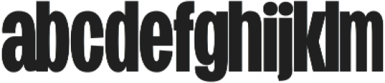 Duera Condensed ttf (700) Font LOWERCASE