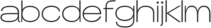 Duera Expanded otf (100) Font LOWERCASE