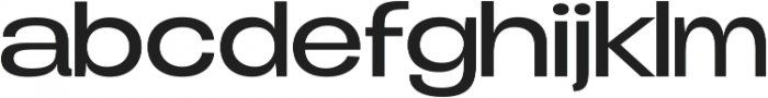 Duera Expanded ttf (300) Font LOWERCASE