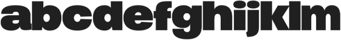 Duera Expanded ttf (700) Font LOWERCASE