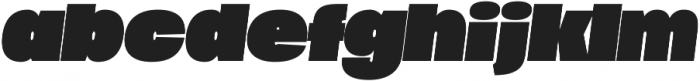 Duera Expanded ttf (900) Font LOWERCASE