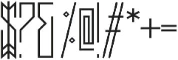 Dupliciter otf (400) Font OTHER CHARS