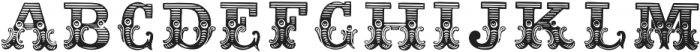 Dusty Circus Fill ttf (400) Font LOWERCASE