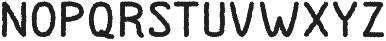 Dutchy Rough otf (400) Font LOWERCASE