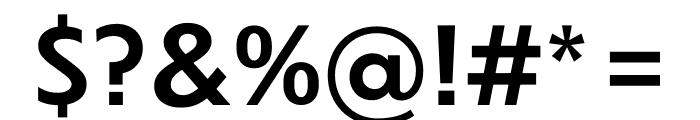 Dunbar Font OTHER CHARS