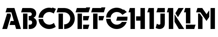 Durango-Stencil-Medium-Regular Font UPPERCASE