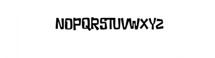 Ducky Manly Font UPPERCASE