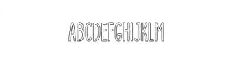 Dutchy Outline.otf Font UPPERCASE