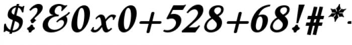 Dutch Mediaeval Pro Bold Italic Regular Font OTHER CHARS