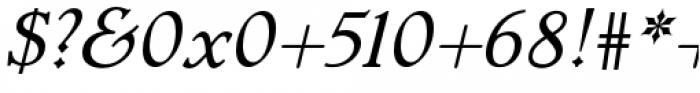 Dutch Mediaeval Pro Italic Regular Font OTHER CHARS
