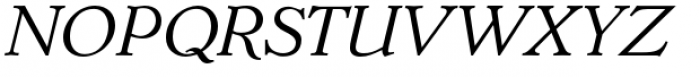 Dutch Mediaeval Pro Italic Regular Font UPPERCASE