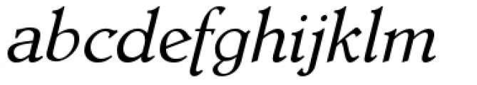 Dutch Mediaeval Pro Italic Regular Font LOWERCASE