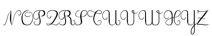 DuCahier 2 Cursive scolaire Font UPPERCASE