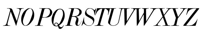 Dubiel Italic Font UPPERCASE